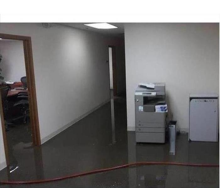Commercial Water Damage – Montrose Offices Before