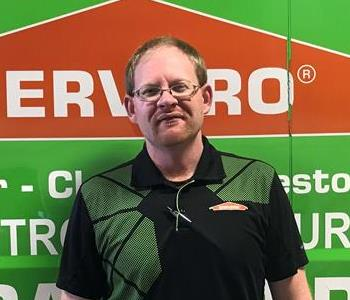 Nick in Front of Servpro Truck