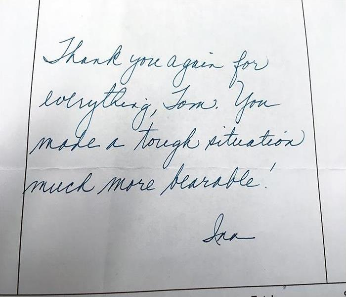 Thank You Note From A Customers