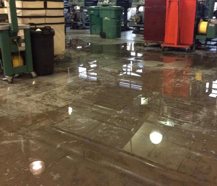 Commercial Water Damage at the Montrose Daily Press