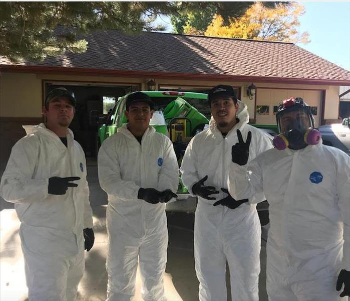 SERVPRO team members on location